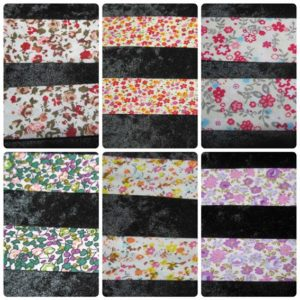 "1 "" (25mm) Wide Patterned / Floral Bias Binding Quilting"