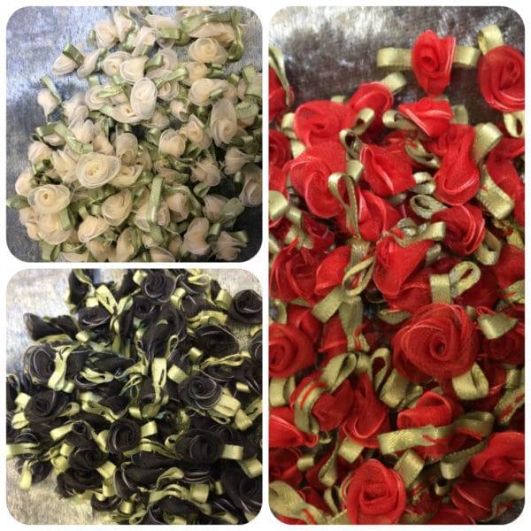 rose buds multiple images