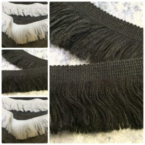 black tassel trim