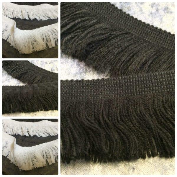 black tassel trim