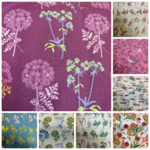 multiple images patterned fabric