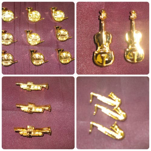 Gold Musical Novelty Buttons