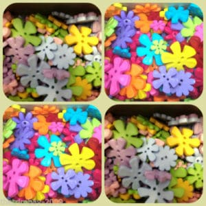 Star Mixed Buttons - Bright Colours - 250g