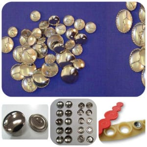 Metal Self Cover Buttons 11mm, 15mm, 19mm, 22mm, 29mm, 38mm