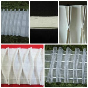 Curtain Heading Tapes- Pinch Pleat - Smoking - Flanged - Clear - Premium 3 inch