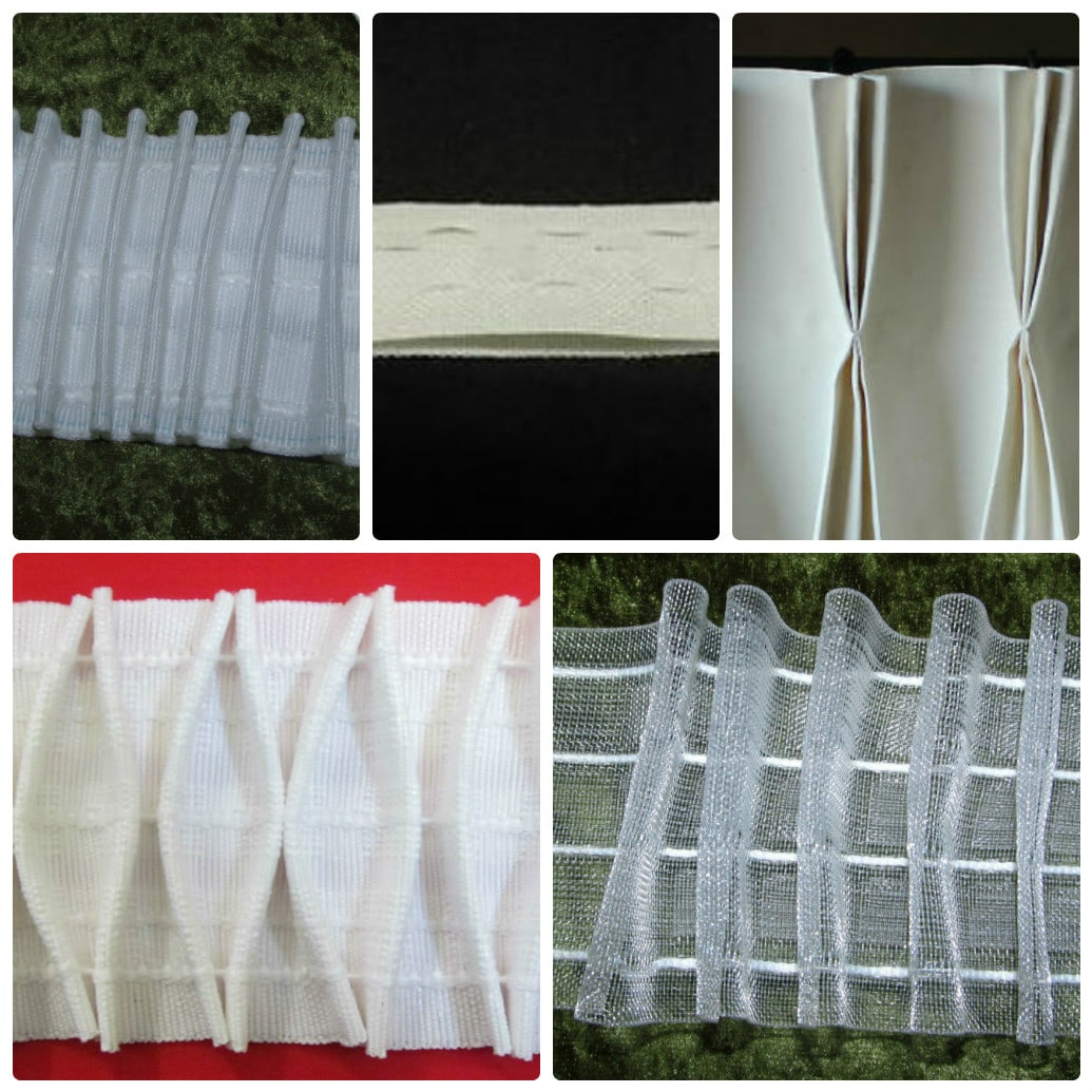 Curtain Heading Tapes Pinch Pleat Smoking Flanged Clear Premium 3 Inch