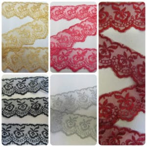 "Top Quality Designer Lace 1.25"" wide"