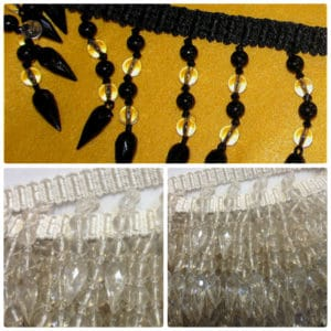 Black & Clear Designer Drop Beading