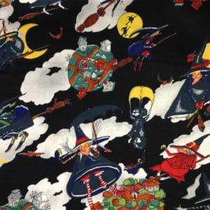 Halloween Black Polycotton Fabric Dress - Craft Fabric