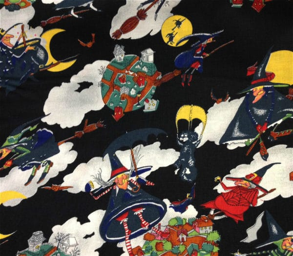 Halloween Black Polycotton Fabric Dress - Craft Fabric