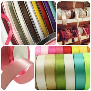 Double Satin Ribbon Various Widths