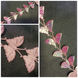 Butterfly Satin Braid - Pink - Iridescent