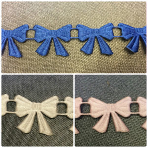 Bows Satin Braid - Pink - Royal - Ivory