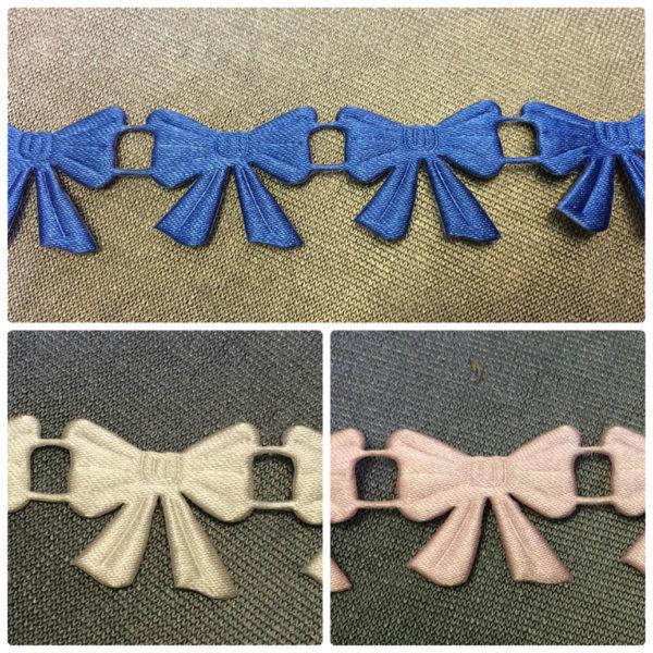Bows Satin Braid - Pink - Royal - Ivory