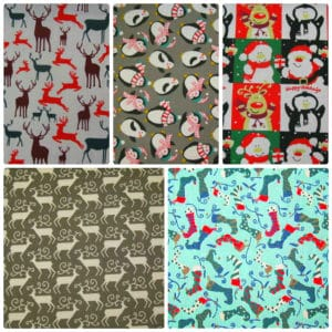 Christmas Stags,Penguins,Snowman, Polycotton Dress - Craft Fabrics