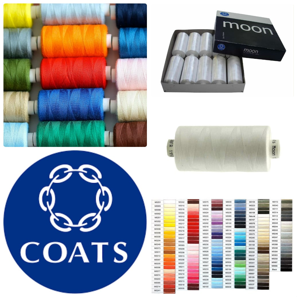 Coats Moon 120s Sewing Machine Polyester Thread 1000 Yards Reels 98p