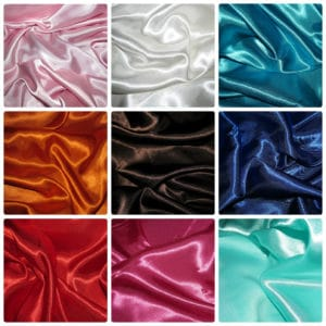 Satin Silky Fabric Plain Dress And Craft Material