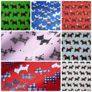 Scotty Dog & Christmas Scotty Dog Polycotton Dress/Craft Fabric