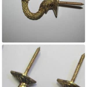 Brass Curtain Tie Back Hooks