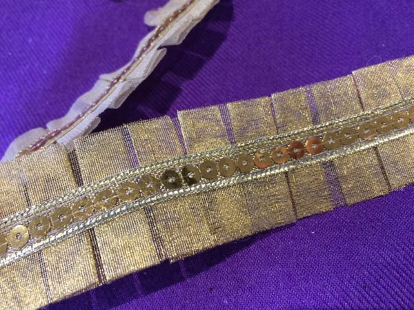 Gold Metallic Sequin Trim By The Metre - Gold