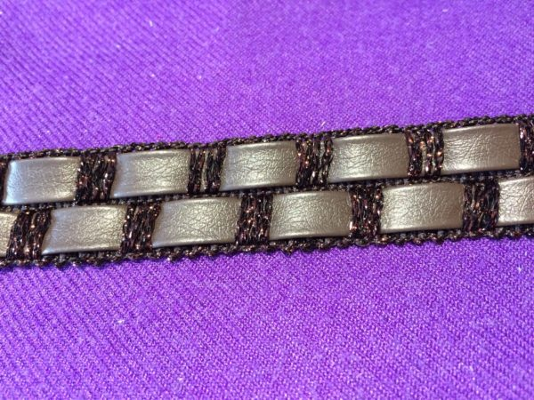 Brown Sequin/ PVC Trim By The Metre - Brown