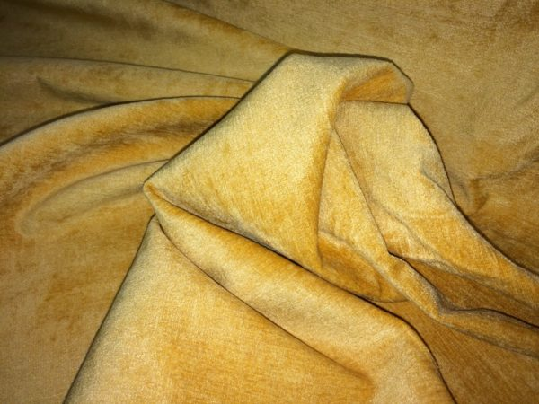 Gold Chenille Curtain Fabric - 150 cm Wide