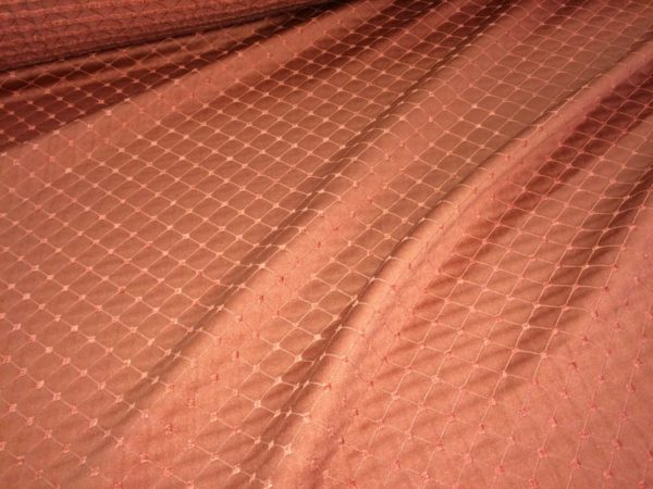 Textured Curtain / Upholstery Fabric - 150 cm Wide - Terracotta