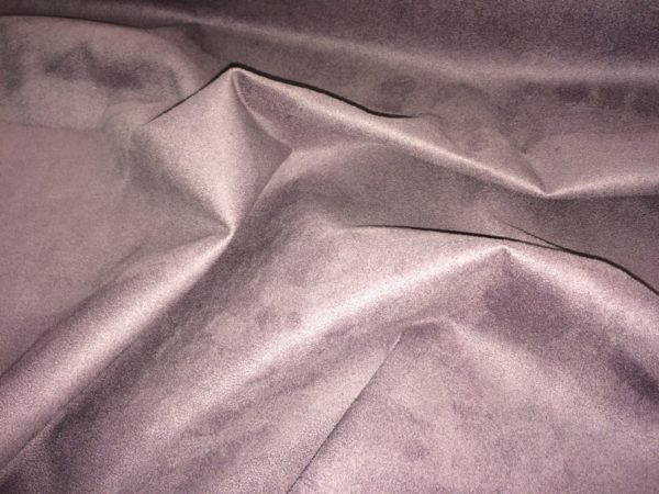 Faux Suede Grape Upholstery Fabric - Curtain Material 150 cm Wide