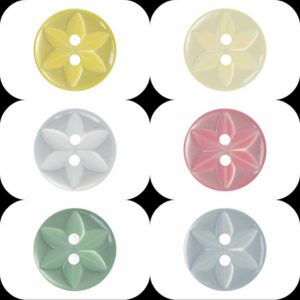Star (P86) Buttons - Ligne 18 & 22 - Wholesale Packs