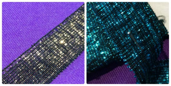 Turquoise & Black/Gold 25mm Metallic Trim By The Metre