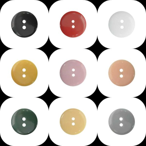 Polished Double Dome (P3620) Buttons - Ligne 18 - Wholesale Packs