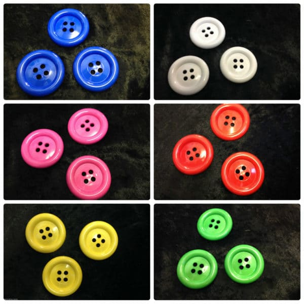 Ring Edge Super Size Novelty Buttons - 60mm