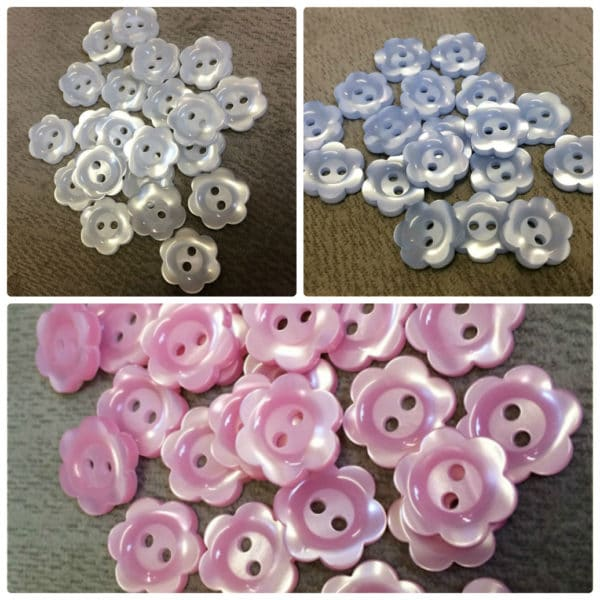 Floral Buttons Wholesale Packs