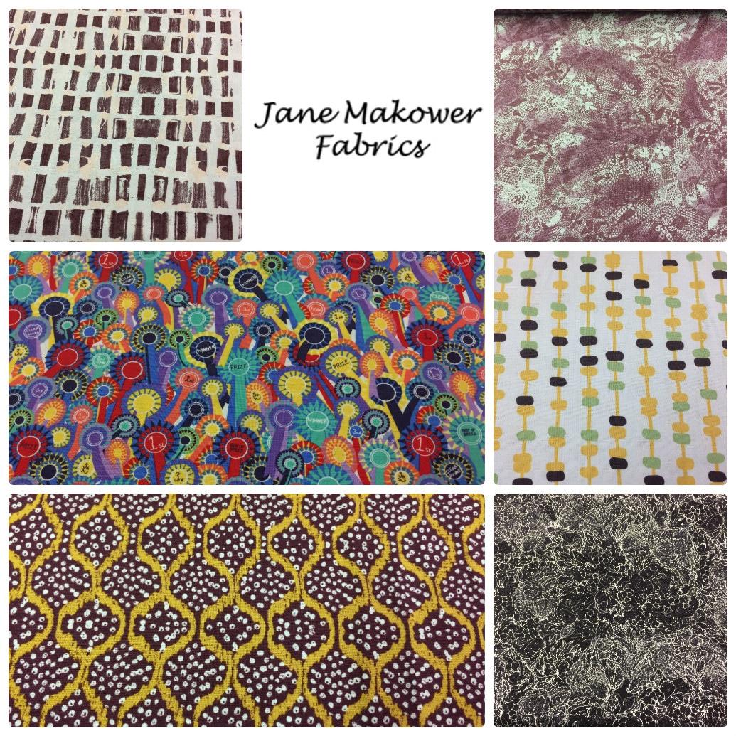 Jane Makower Dress Fabrics - Daisy, Circle, Switch, Cheetah