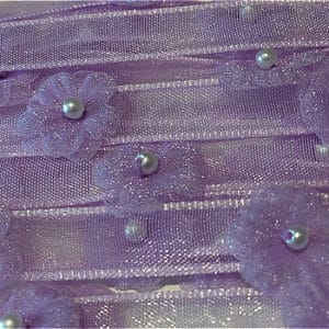 Lilac Pearl Sequin Organza Trim By The Metre - Lilac