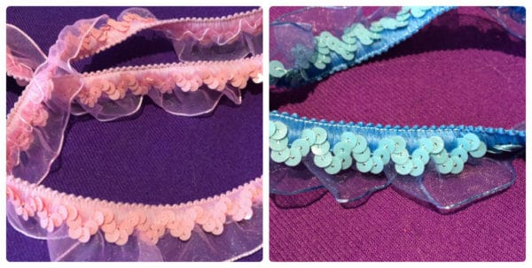 Organza Sequin Trim By The Metre