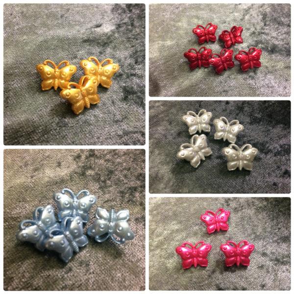 Butterflies Novelty Buttons - 18mm - Wholesale Packs