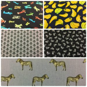 "Dress Fabric - Cotton - 44 "" (110 cm) Wide - Zebra - Turtles - Novelty"