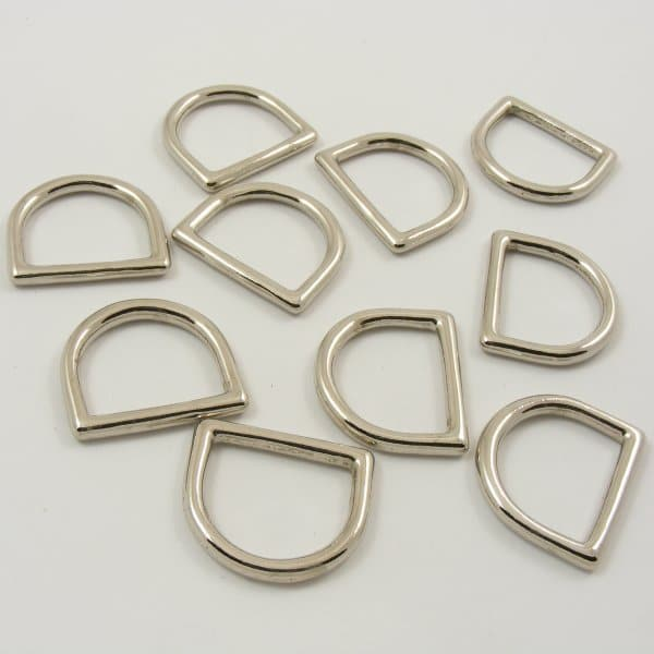D-Rings - Brass & Chrome - Wholesale Packs 100 - 20mm or 25mm