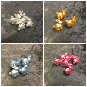 Rabbits Novelty Buttons - 18mm - Wholesale Packs
