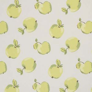 Dress Fabric green apples