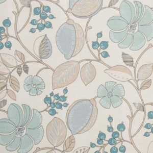 blue flower Dress Fabric