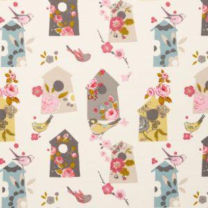 Dress Fabric bird houses