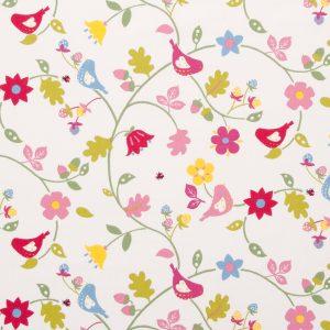 Dress Fabric pink birds