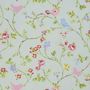 Dress Fabric floral seafoam