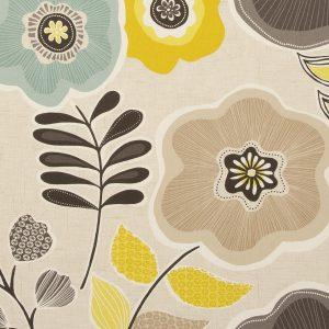 Dress Fabric brown flowers