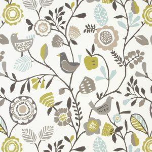 Dress Fabric floral grey