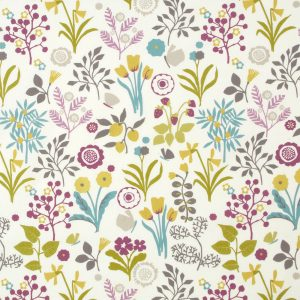 Dress Fabric floral olive