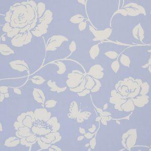 Dress Fabric floral powder blue
