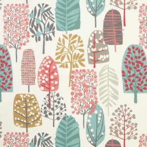 Dress Fabric trees and leaves